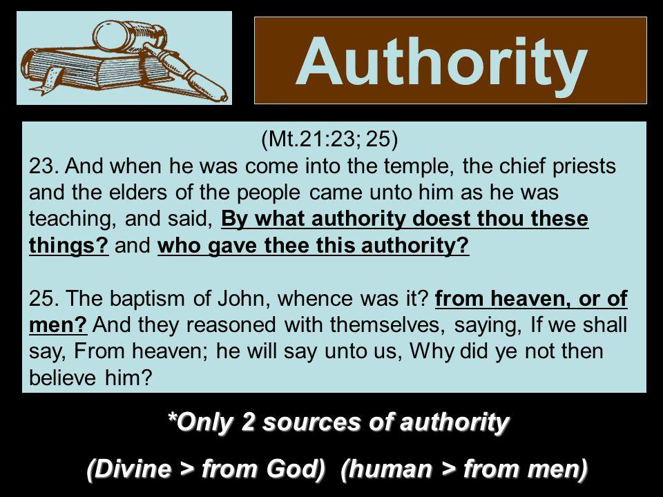 Authority CommandGenericSpecific Baptize – Mt.28:18-20 Mk.16:15-16 Who.