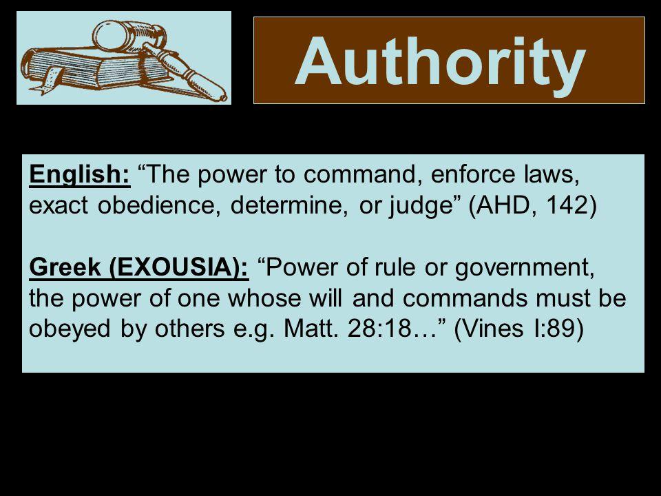 Authority (Col.3:17) 17.