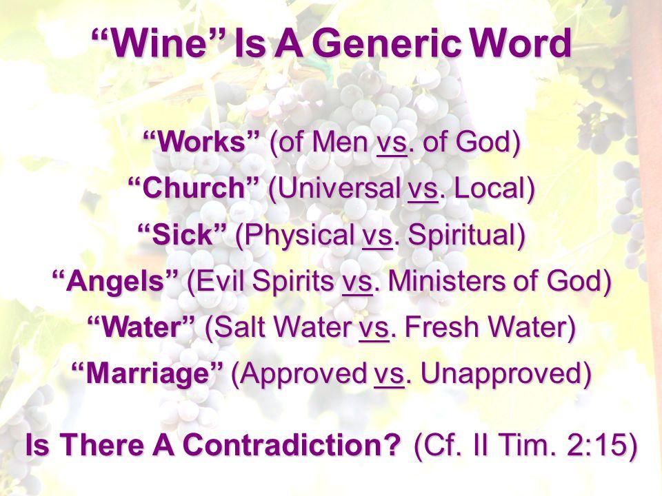 Works (of Men vs. of God) Church (Universal vs.