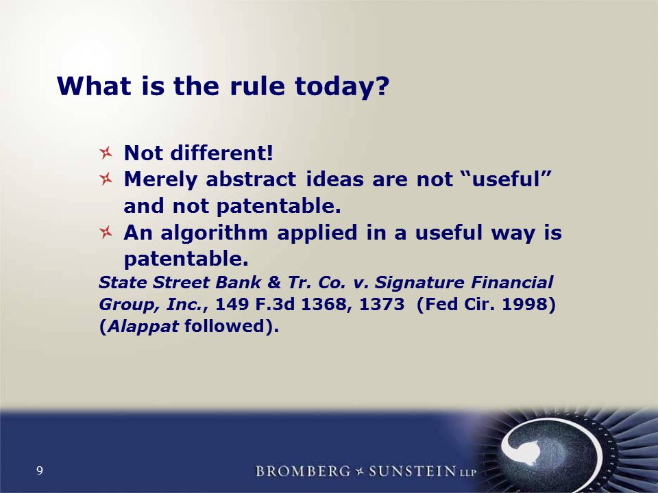 9 What is the rule today. Not different.