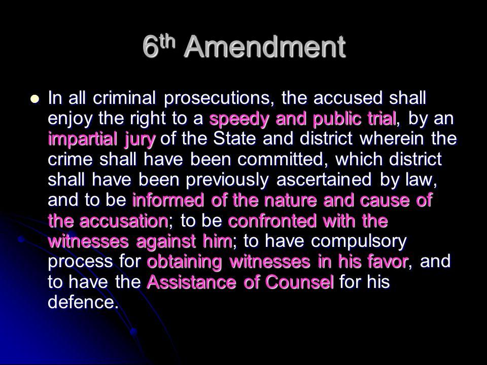 #1 speedy and public trial fair trial v.free press (6 th v.