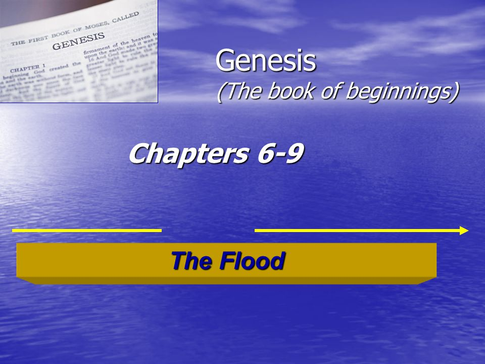 Genesis (The book of beginnings) Chapters 6-9 The Flood