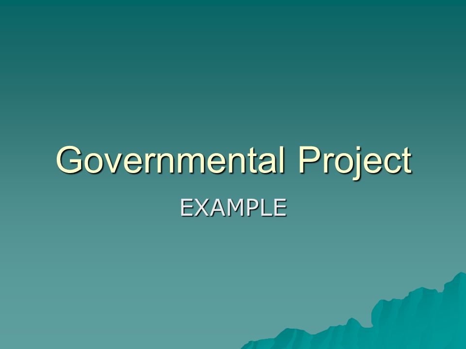 Governmental Project EXAMPLE
