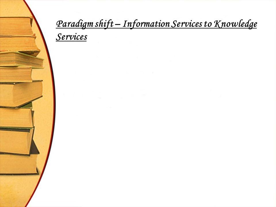 Knowledge Services – Some Initiatives : i.CII & PFS Knowledge Services (www.cii.co.uk/knowlege)www.cii.co.uk/knowlege ii.