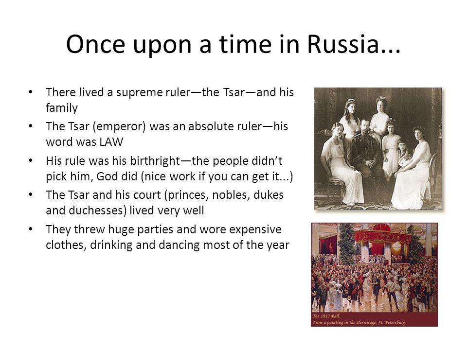 """Russian History 101 Or """"Once Upon a Time in Russia""""..."""""""