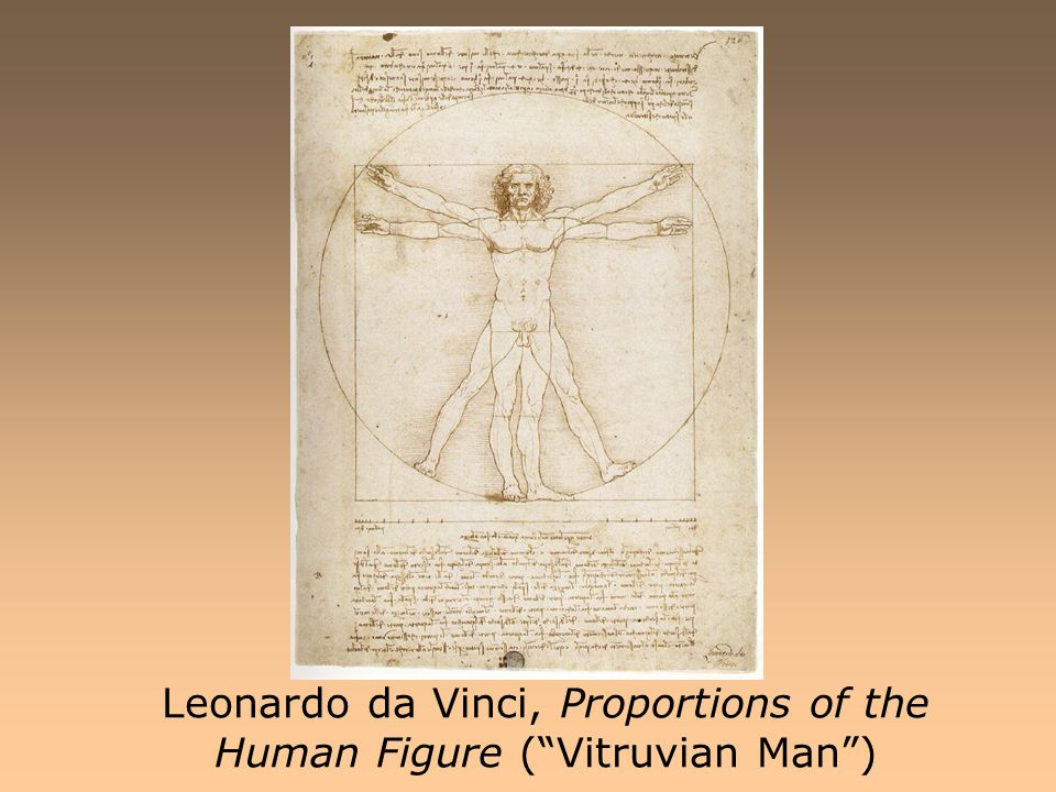 Leonardo da Vinci, Proportions of the Human Figure ( Vitruvian Man )