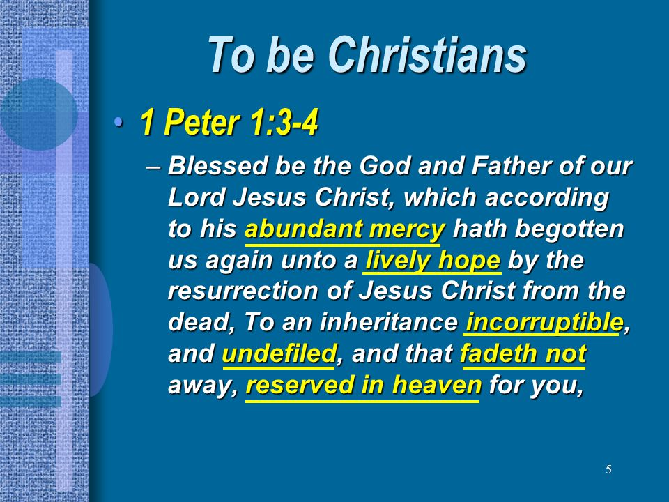 36 To be a HOLY people 1 Peter 1:22 1 Peter 1:22 –Seeing ye have purified your souls in obeying the truth through the Spirit unto unfeigned love of the brethren, see that ye love one another with a pure heart fervently: