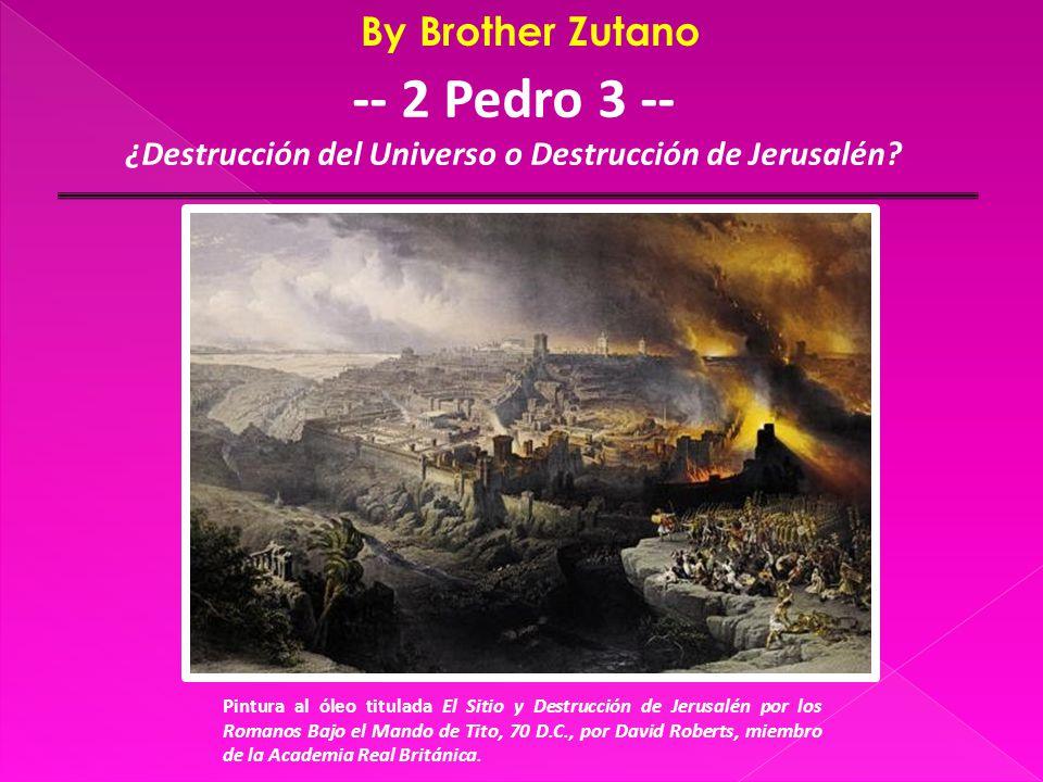  Dan.9:24-27  Matt.24:1-34, Mark 13:1-31, Luke 21:5-32  Acts 6:14  1 Thess.2:14-16  Heb.8:13, 10:25  Much of the Book of Revelation  Principles 2 Cor.2:17; 2 Tim.2:15