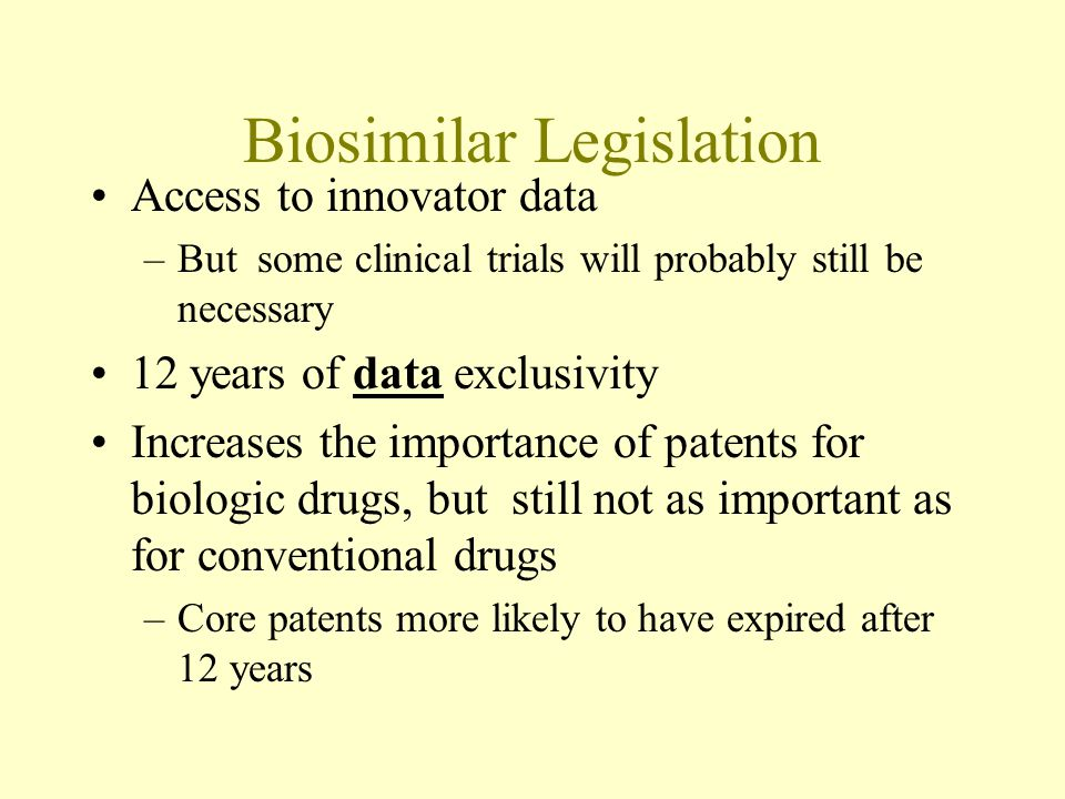 Issues Will abbreviated approval process facilitate market entry by biobetters Will patent term extension be available under 35 USC 156.