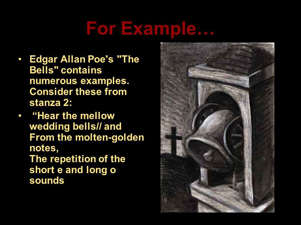 For Example… Edgar Allan Poe's