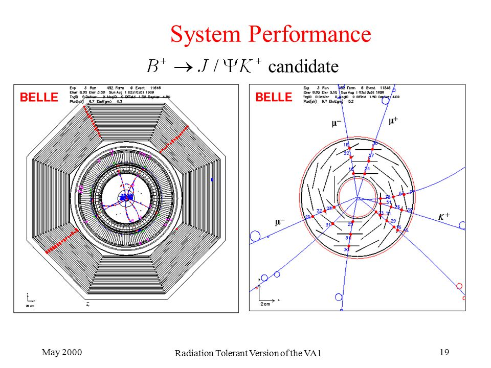 May 2000 Radiation Tolerant Version of the VA1 19 System Performance candidate