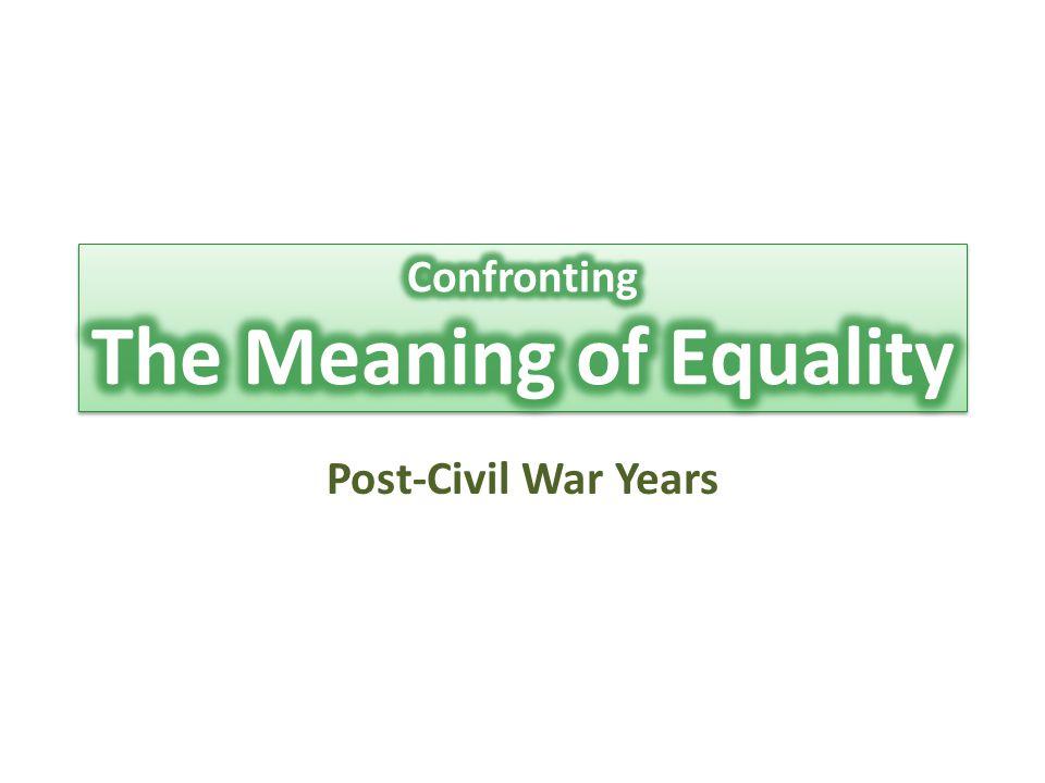 Post-Civil War Years