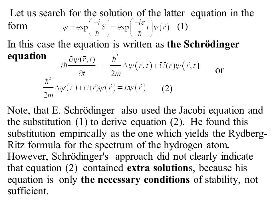Furthermore, it turned out that the equation (2) has more solutions than the original problem.