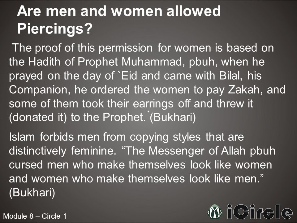 Module 8 – Circle 1 Are Muslims allowed Tattoos.