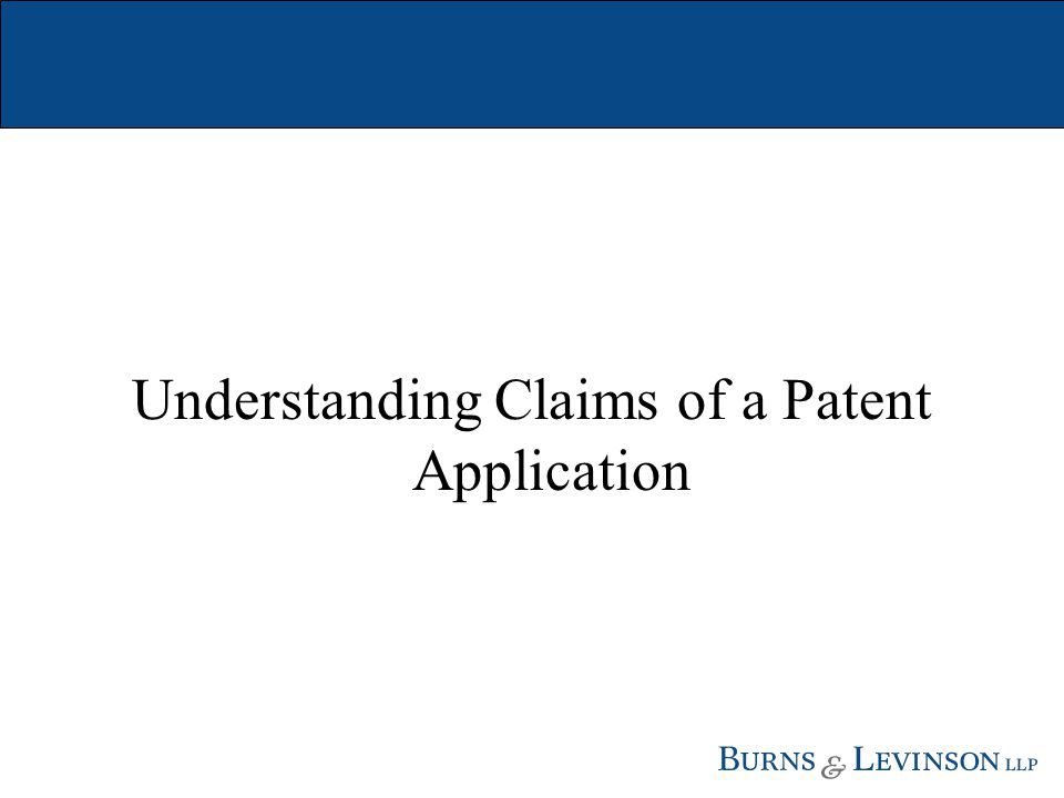 Understanding Claims of a Patent Application