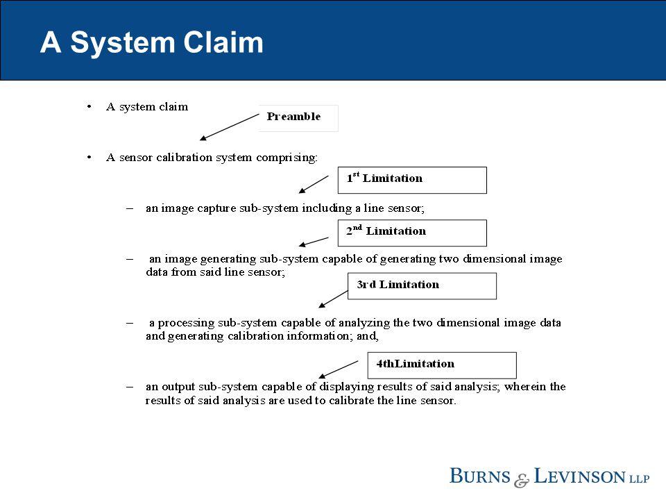 A System Claim