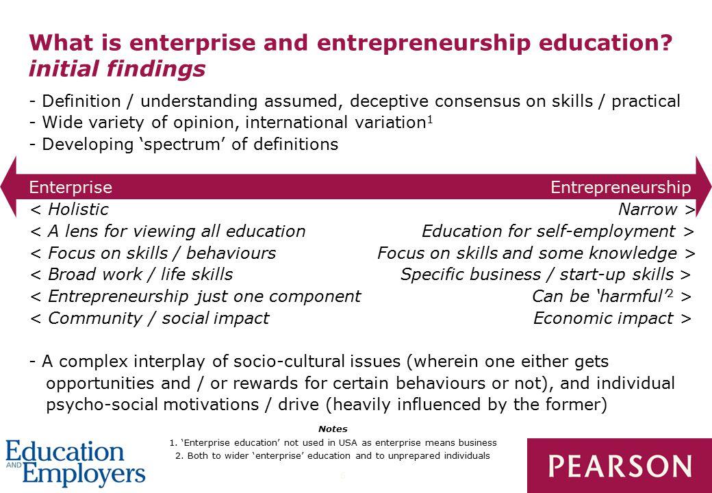 6 What is enterprise and entrepreneurship education.