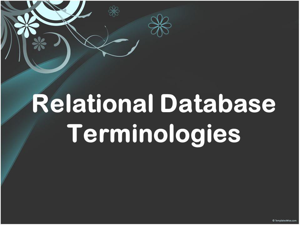 Relational Database Terminologies