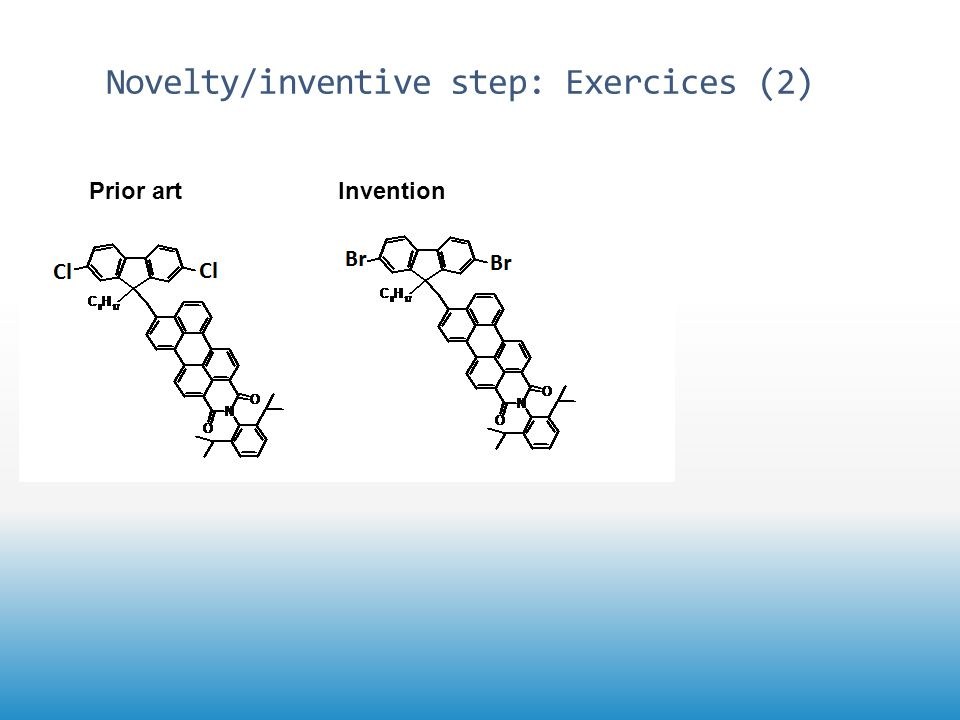 Novelty/inventive step: Exercices (2) Prior artInvention