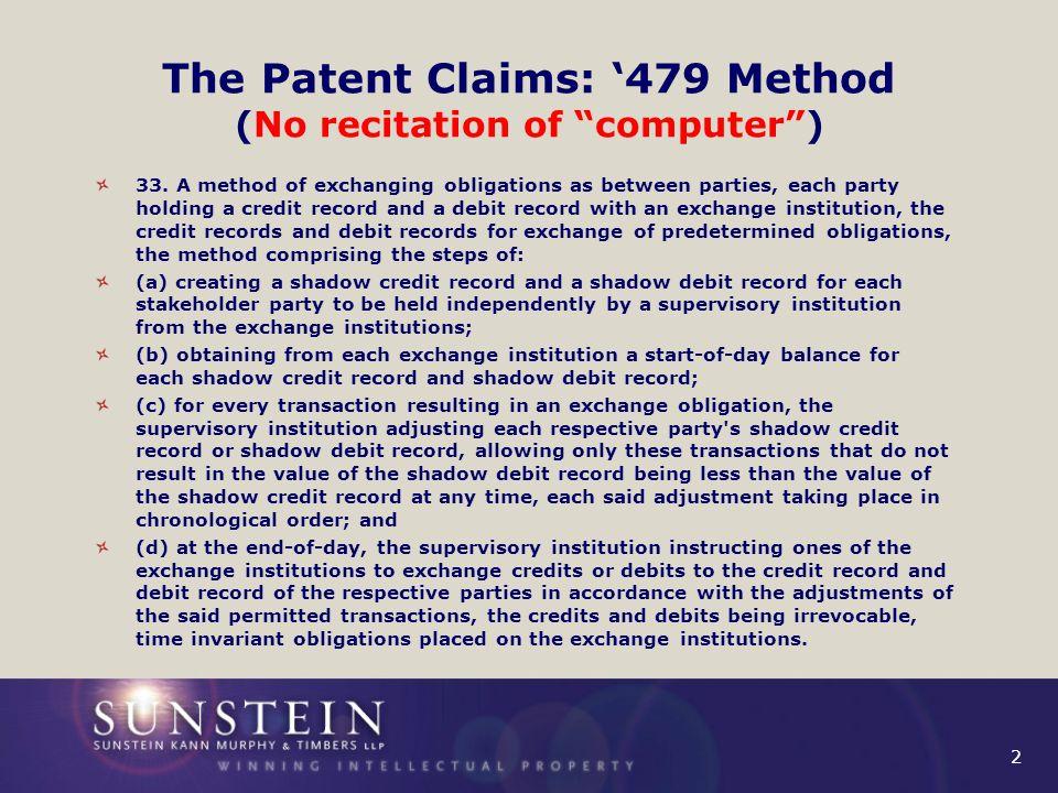 3 The Patent Claims: '375 Medium 39.