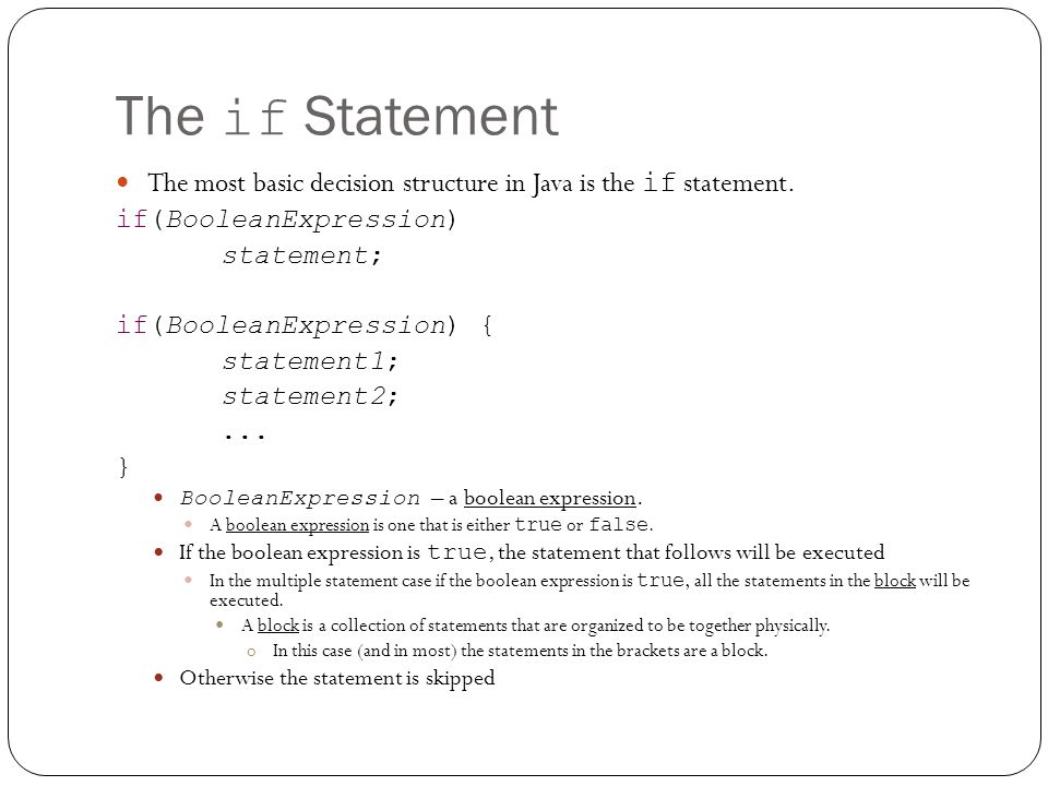 else-if Example New Topic: else-if statement