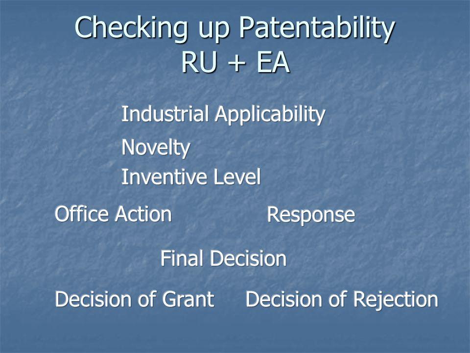 Checking up Patentability RU + EA