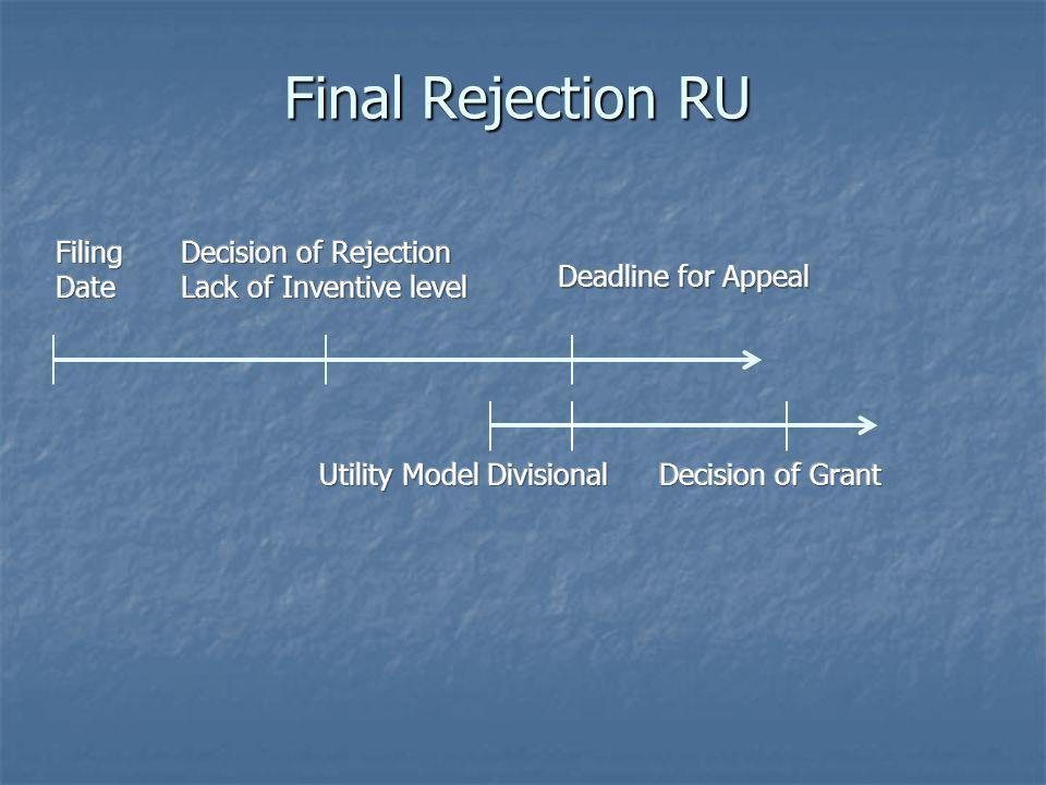 Final Rejection RU