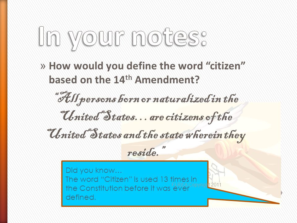 Is there a specific definition of a natural born citizen in the Constitution.