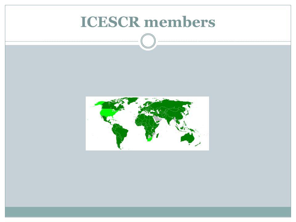 ICESCR members