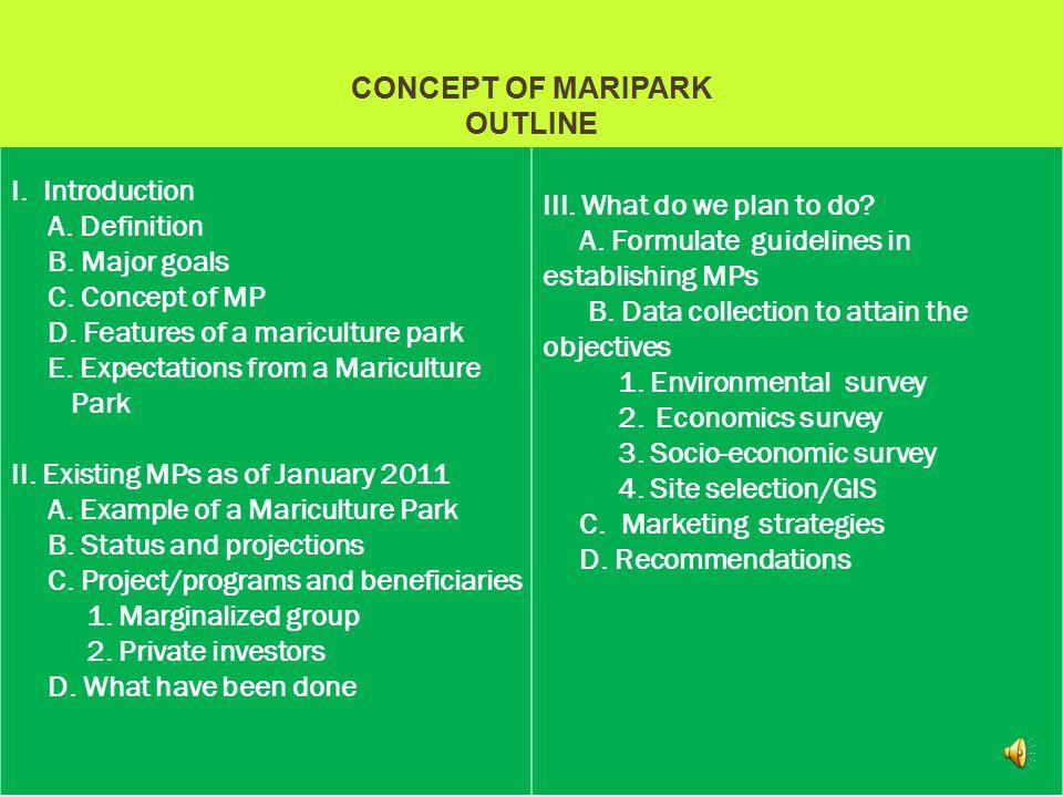 I.Introduction A. Definition B. Major goals C. Concept of MP D.