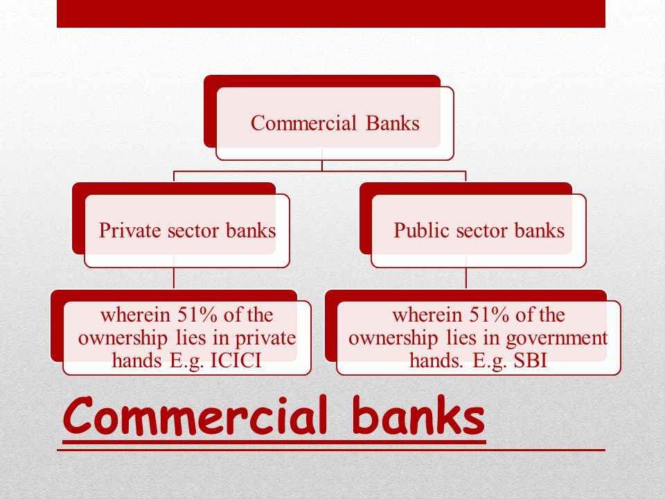 Co-operative banks These are represented by group of societies registered under the act of the states relating to co-operative societies CO- OPERATIVE CREDIT SOCIETIES Rural credit societies which are primarily agricultural Urban credit societies which are primarily non-agricultural