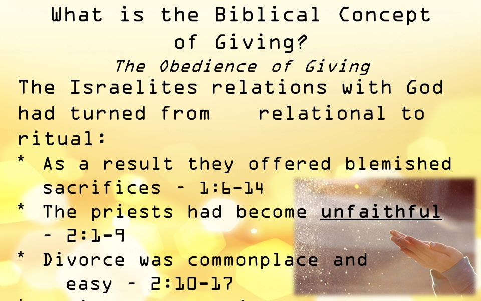 What is the Biblical Concept of Giving.