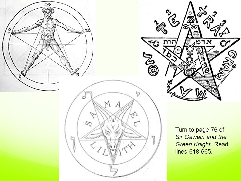 Gawain's Shield In the poem, Gawain's shield is very clearly described as a golden pentangle on a field of red.