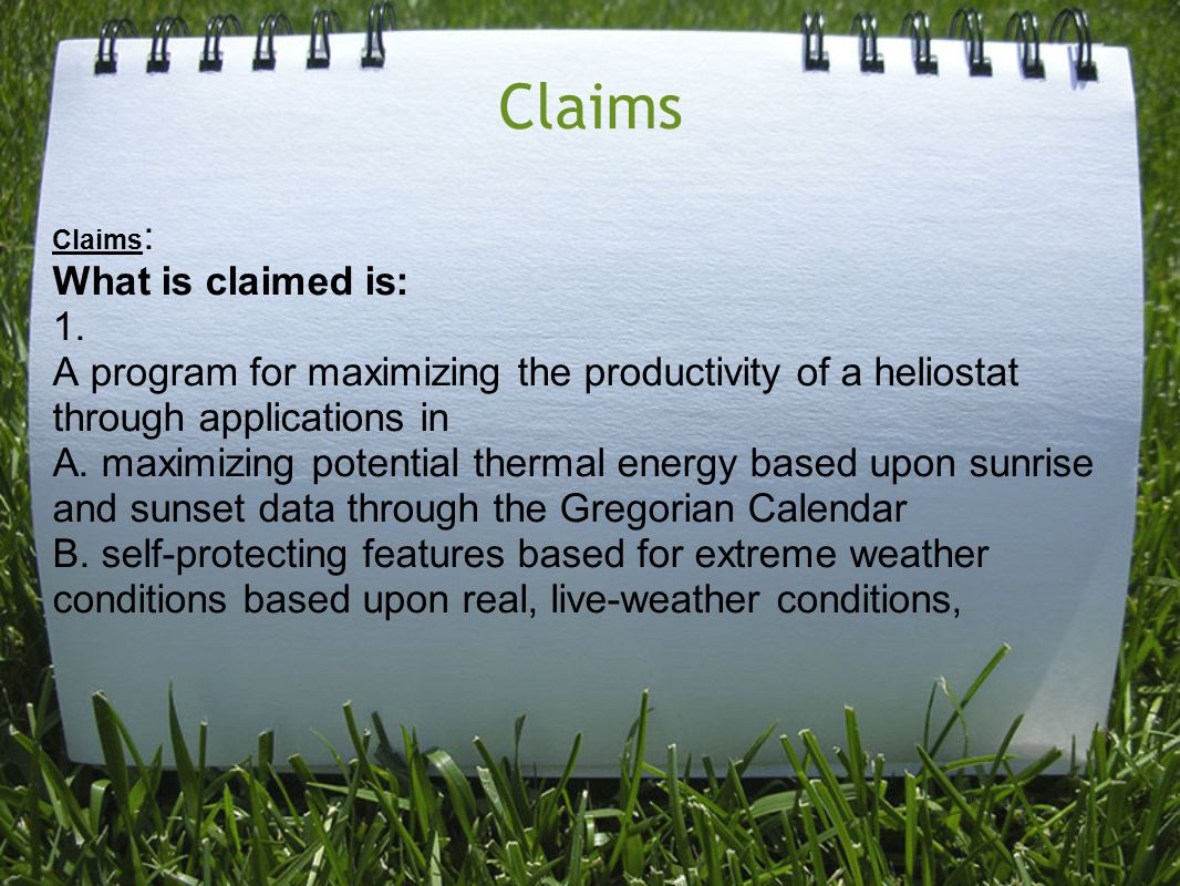 Claims Claims : What is claimed is: 1.
