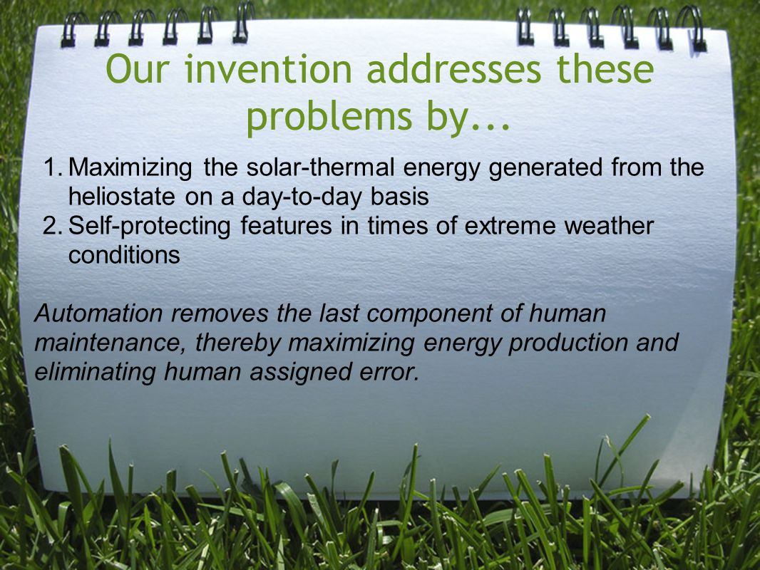 Our invention addresses these problems by...