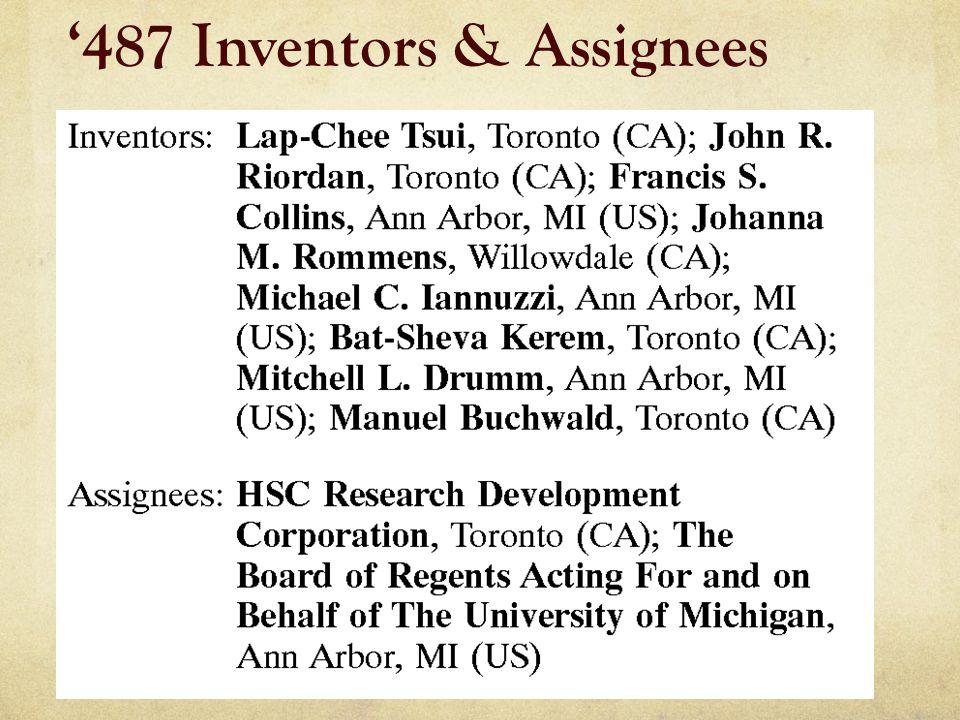 '487 Inventors & Assignees