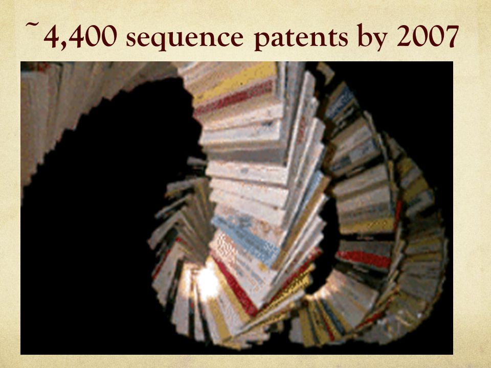 ~4,400 sequence patents by 2007