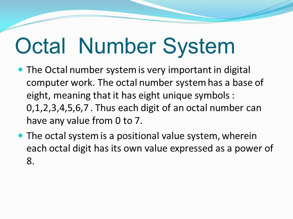 Hexadecimal Number System The Hexadecimal System uses base 16.