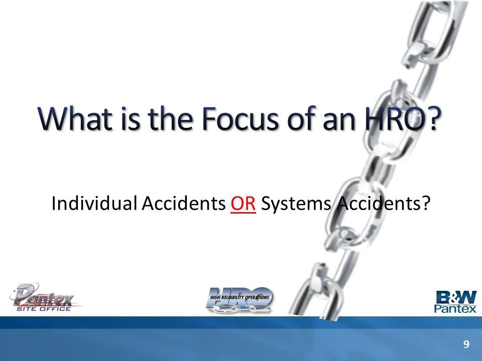 Individual Accidents OR Systems Accidents 9