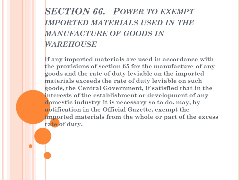 REMOVAL OF GOODS FROM WAREHOUE SECTION 67.