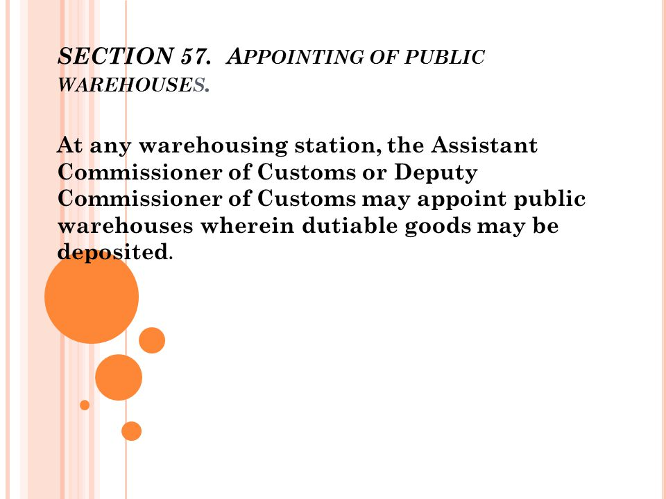 DIFFERENCE BETWEEN PRIVATE & PUBLIC WAREHOUSE Licensed by the CBEC.