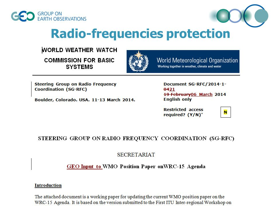 Radio-frequencies protection