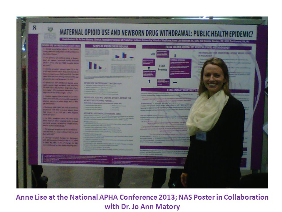 Anne Lise at the National APHA Conference 2013; NAS Poster in Collaboration with Dr. Jo Ann Matory