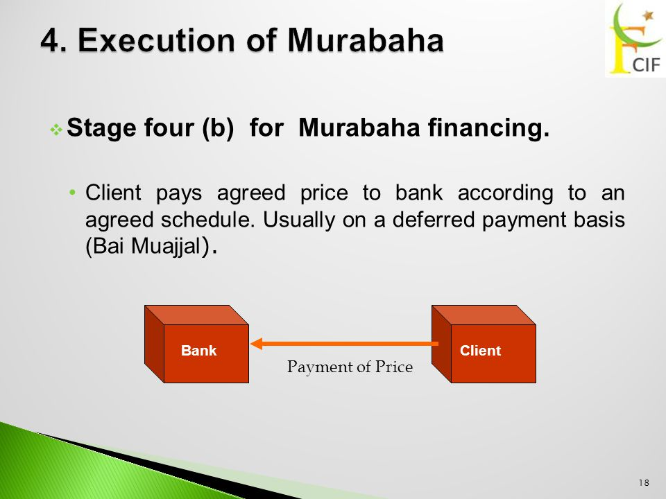  Stage four (b) for Murabaha financing.