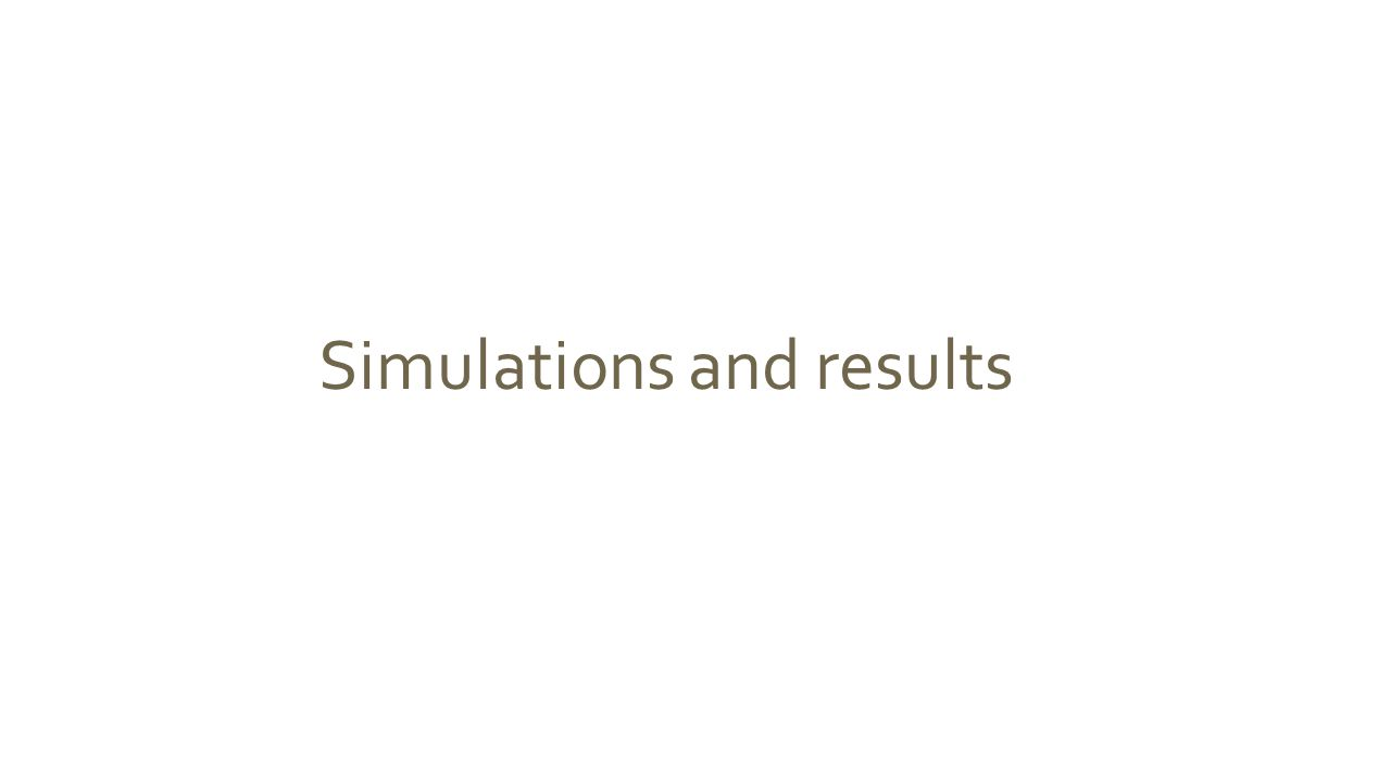 Simulations and results