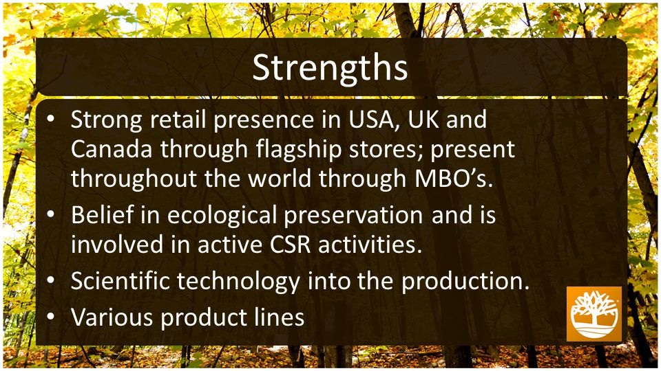 Strong retail presence in USA, UK and Canada through flagship stores; present throughout the world through MBO's.