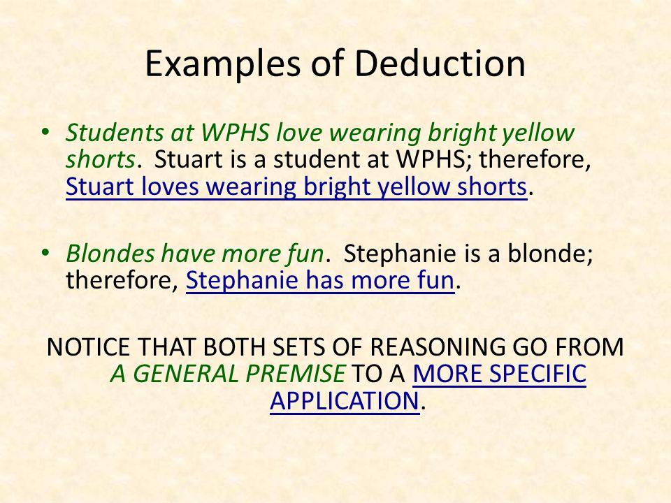 Deductive Reasoning and the Syllogism A syllogism (pronounced SILL – uh – JIZ – m) is the formula for deductive reasoning.