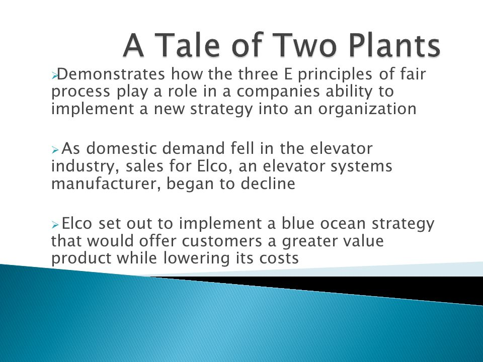  Demonstrates how the three E principles of fair process play a role in a companies ability to implement a new strategy into an organization  As dom