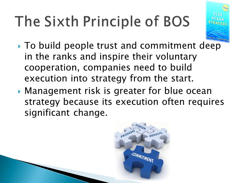  To build people trust and commitment deep in the ranks and inspire their voluntary cooperation, companies need to build execution into strategy from