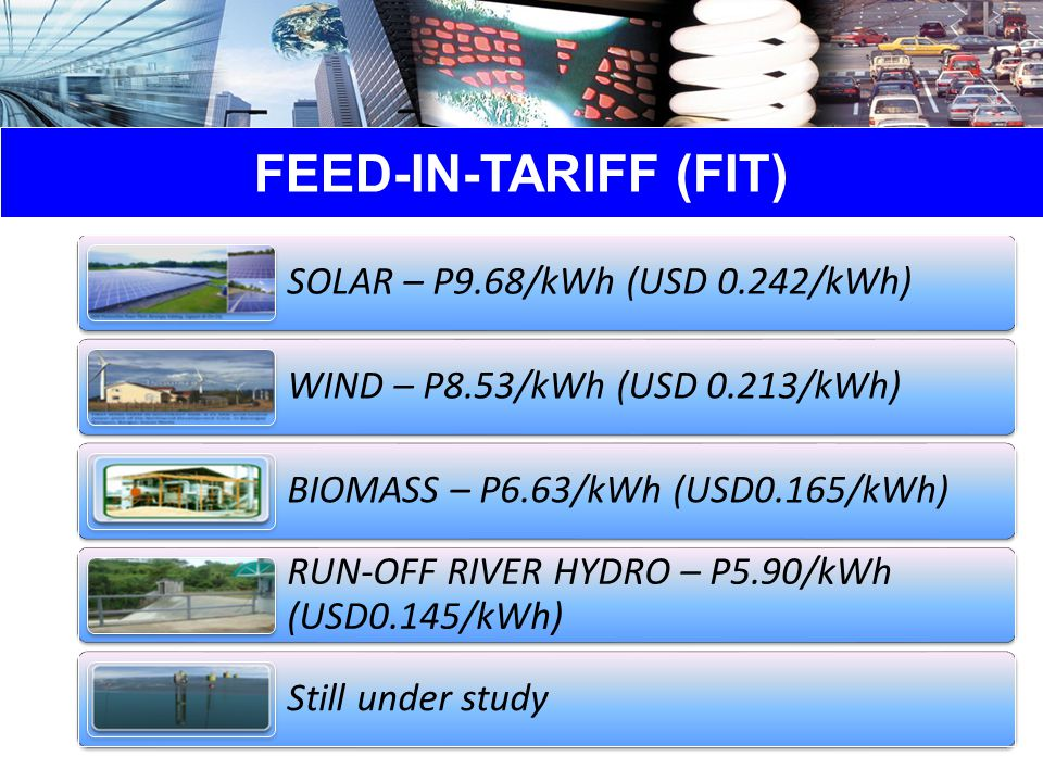 FEED-IN-TARIFF (FIT)